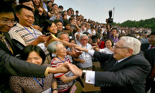 Former US Secretary of State Henry Kissinger attends the 20th anniversary of the Johns Hopkins University, Nanjing University Center for Chinese and American Studies, on June 23, 2007. Photo: CFP