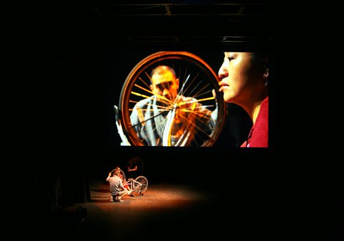 Actors perform <em>Ibsen in One Take</em> in Rotterdam in September. Photo: Courtesy of Wang Chong