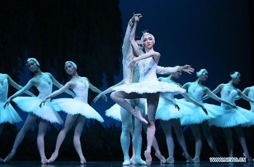 Dancers perform the ballet