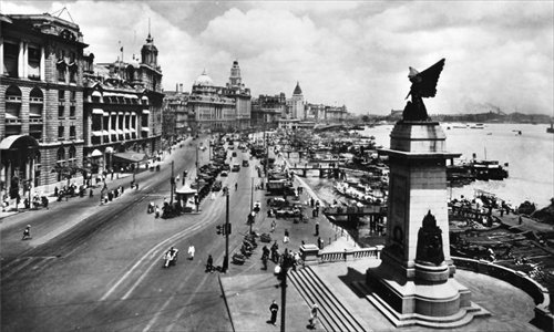 The Bund as it looked in the 1920s and 1930s when the Green Gang Triad thrived in the city.