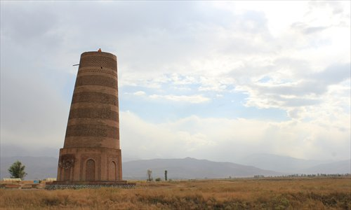 Burana tower at the Balasagun site Photo: Xu Ming/GT