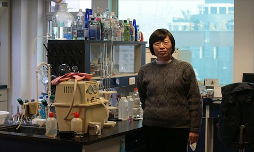 Zhao Feihong, a researcher on drinking water in Beijing, is seen in her laboratory. Recent news about her family not drinking tap water for 20 years has sparked water safety worries in the city. Photo: CFP