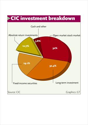 CIC investment breakdown