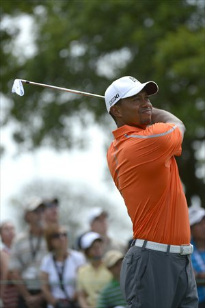 Tiger Woods in the second round of the Arnold Palmer Invitational golf tournament in Orlando, Florida, March 22, 2013. Photo: IC