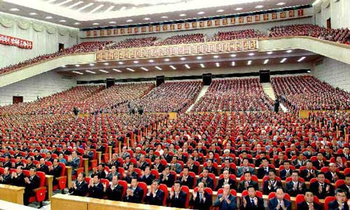 Photo released by Korean Central News Agency (KCNA) on Sept. 8, 2012 shows the Central Report Assembly for the 64th National Day held in Pyongyang, capital of the Democratic People's Republic of Korea (DPRK). Photo: Xinhua/KCNA