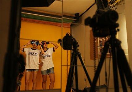 Self-portrait studios make taking selfies a communal activity. Photo: Cai Xianmin/GT