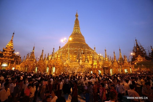People celebrate Myanmar new year's day - Global Times