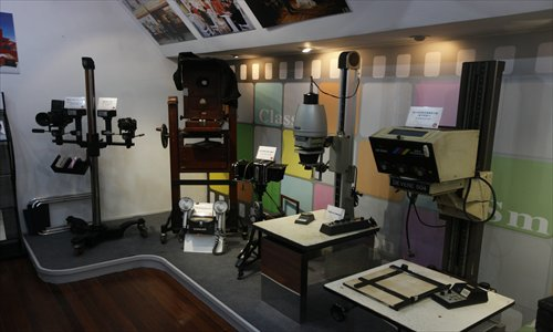 Photographic equipment used by the Shanghai New People Photograph Company over the past 70 years. Photo: Cai Xianmin/GT