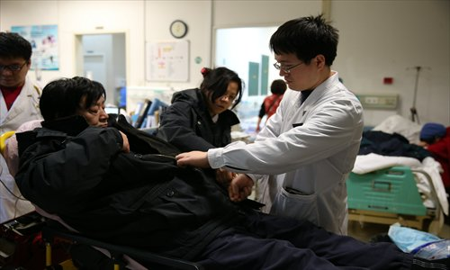 Fewer than 17 percent of medical students in China actually become doctors upon graduation, due partly to low pay and long working hours. Photo: CFP