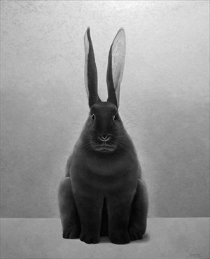 Painting Black Hare by artist Shao Fan Photo: Courtesy of Shao Fan