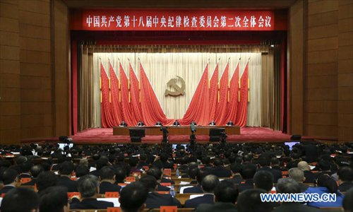 A plenary meeting of the Communist Party of China's Central Commission for Discipline Inspection (CCDI) is held in Beijing, capital of China, January 22, 2013.