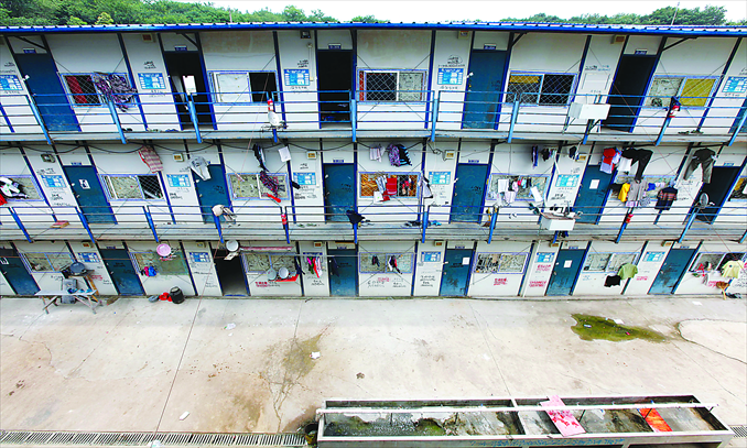 Conjugal dorms for migrant workers at the Nanjing Daishan low-income housing construction site Photo: Lu Yun/GT