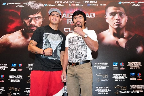 Manny Pacquiao, Brandon Rios attend promotion event in Singapore
