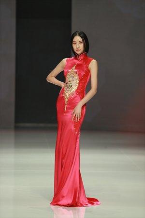 A model wears a dress from NE-Tiger