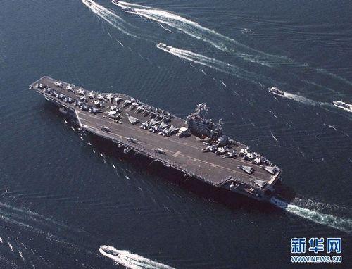 US aircraft carrier Abraham Lincoln. Photo: Xinhua