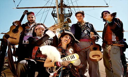 Five members of the band Capitán Tifus Photo: Courtesy of Capitán Tifus