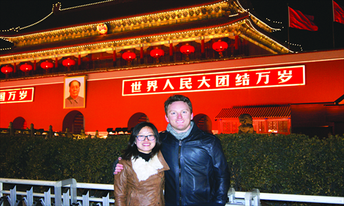 5. An evening stroll in downtown Beijing isn't complete without a photo featuring the iconic backdrop of the Tiananmen Rostrum.