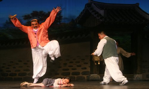 Scene from 2012 performance of The Flower Girl, staged in Xi'an  Photo: CFP