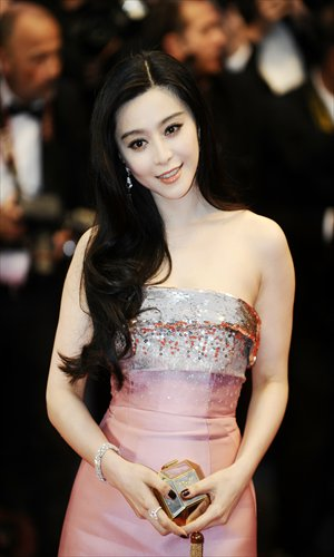 Fan Bingbing poses for cameras on the red carpet. Photo: CFP