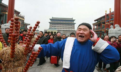 Beijing dialects can be heard from food vendors. Photps: CFP