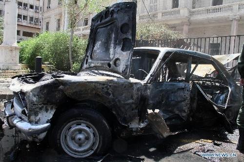 13 killed 70 injured in car bomb blast in damascus global times. Black Bedroom Furniture Sets. Home Design Ideas