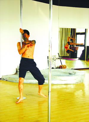 Yan Shaoxuan rehearses   Photo: Liao Danlin/GT