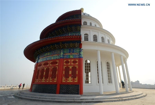 Building Complex With Chinese Western Architectural Styles Seen In
