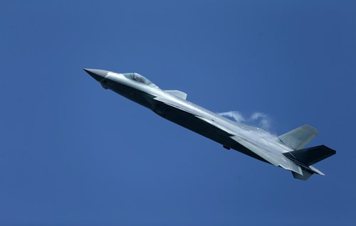 A J-20 stealth fighter of China's Bayi Aerobatic Team performs at the 11th China International Aviation and Aerospace Exhibition in Zhuhai, South China's Guangdong Province, Nov. 1, 2016. China's domestic-built J-20 stealth fighter made its public debut during the exhibition on Tuesday. Photo: Cui Meng/GT