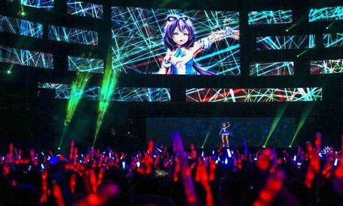Chinese virtual idol Luo Tianyi Photo: IC