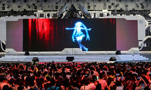 The popularity of virtual idol concerts in China is growing, experts say. Photo: IC