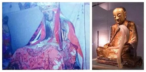 A picture of the stolen Buddha (left) and the picture of the Buddha on display at Hungarian Natural History Museum in Budapest Photos: Courtesy of Lin Wenqing