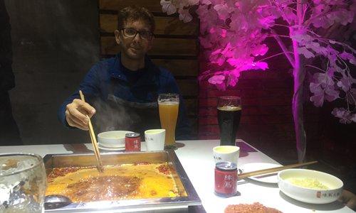 Jonathan Kott and his favorite Sichuan hot pot Photo: Courtesy of Jonathan Kott