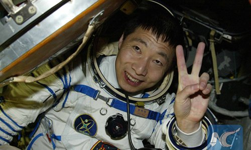 Photo taken on Oct. 16, 2003 shows astronaut Yang Liwei getting out of the re-entry capsule of China's Shenzhou-5 spacecraft following its successful landing in north China's Inner Mongolia Autonomous Region. (Xinhua/Wang Jianmin)  - 4290d929 3653 4130 8773 3051451090ad - Story of China's first taikonaut's one day in space lights up internet, highlights country's space advancements