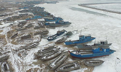 Sea ice area rises in NE China's Liaodong Bay - Global Times