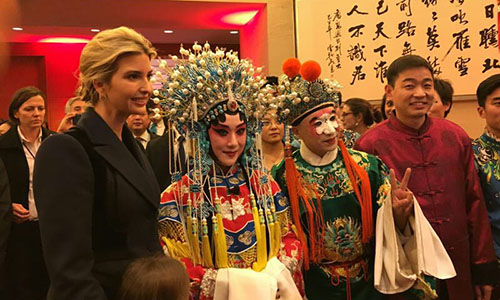 IvankaTrump attends New Year celebration at Chinese Embassy in Washington on Feb 1. Photo: Chen Lidan