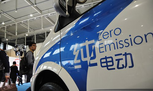 A new energy vehicle at the 2016 China (Nanjing) International New Energy Auto Expo in Nanjing, capital of East China's Jiangsu Province on April 17, 2016 Photo: CFP