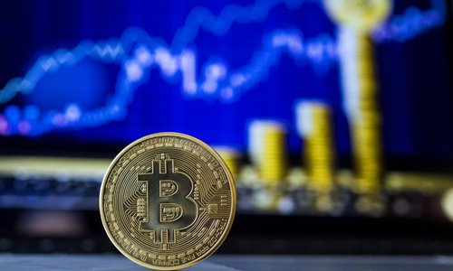 A visual representation of the digital cryptocurrency Bitcoin Photo: AFP