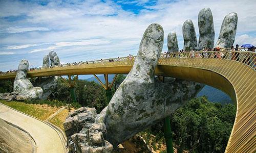 Golden Bridge in Ba Na Hills, Vietnam - Global Times