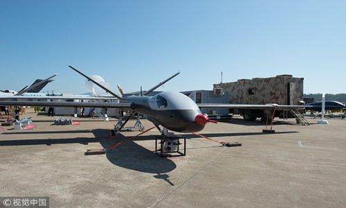 Wing Loong I-D drone displayed at the Airshow China 2018 in Zhuhai, South China's Guangdong Province, November. Photo:VCG