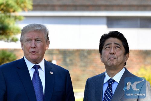 Trump, Abe hold phone talks over upcoming U.S.-DPRK summit
