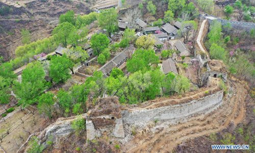Qingshan'guan Pass of Great Wall in north China's Hebei