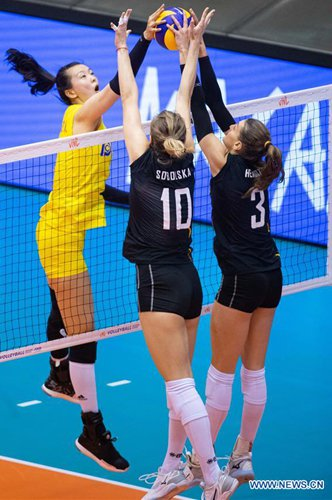 China beats Belgium 3-0 at FIVB Women's Volleyball Nations League Macao - Global Times