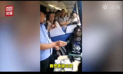 Foreign student arrested for illegally occupying seats on train
