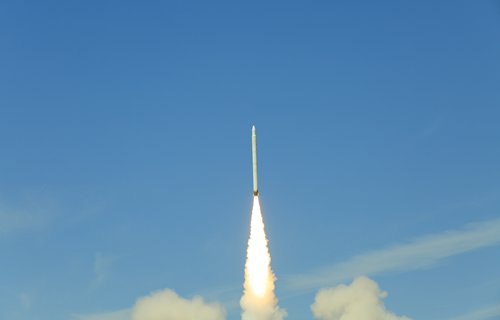 China's commercial carrier rocket Jielong-1 launches satellites into orbit