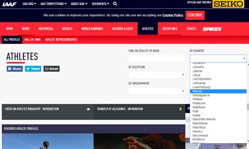 Netizens slam sports groups for listing HK, Macao as countries