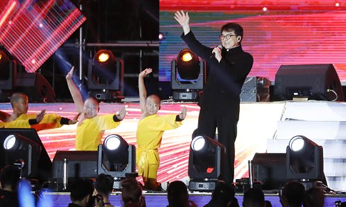 Jackie Chan is invited to sing a song on a Chinese web celebrity's wedding. Photo: VCG