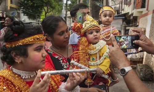 Krishna Janmashtami celebrated at temple in India