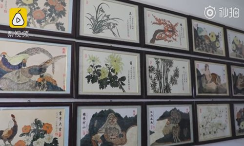 Butterfly museum features artworks made of thousands of wings