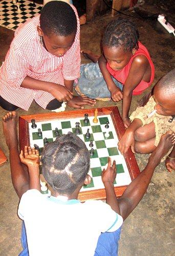 Chess offers children in Nigerian slum hope and