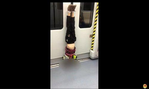 Boy ordered to practice gymnastics on subway